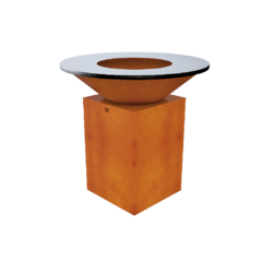 Очаг-гриль KORWOOD HIT 02 с чугунной жарочной поверхностью
