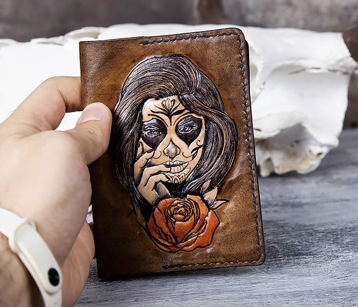 BC169 Обложка в стиле мексиканского Дня Мертвых, ручная работа фото 06