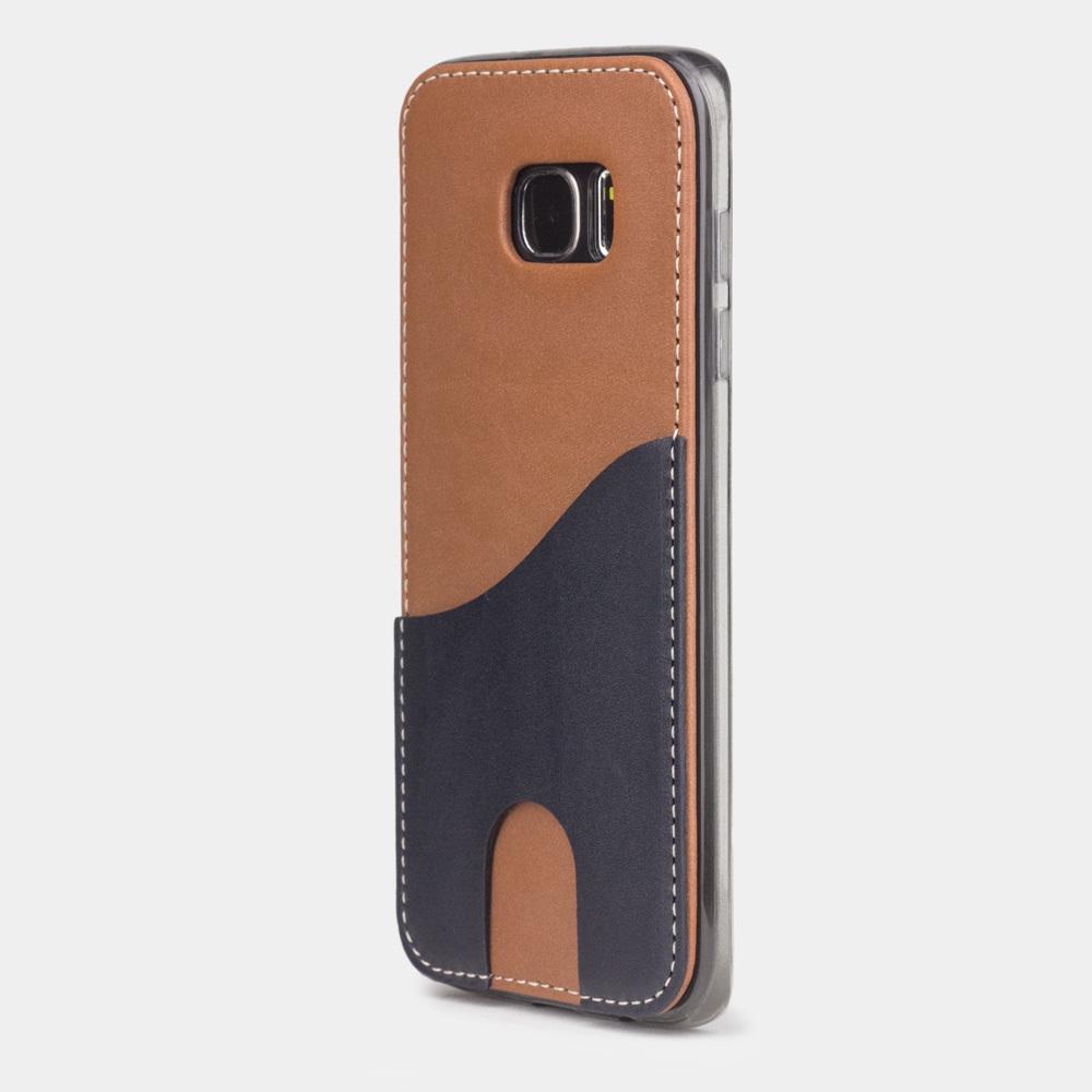 Чехол-накладка Andre для Samsung S7 edge из натуральной кожи теленка, коричневого цвета