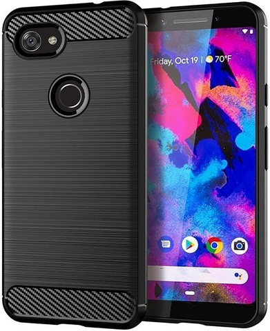 Чехол Google Pixel 3a цвет Black (черный), серия Carbon, Caseport