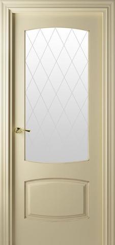 Дверь Valdo Puertas 844 (слоновая кость, остекленная, массив хвойных пород)