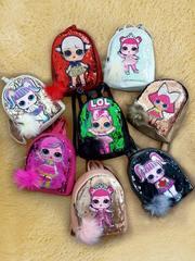 Рюкзак ЛОЛ с пайетками (бежевый), LOL Surprise Dolls