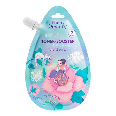 Funny Organix Secret Snail & Healing Herbs Тонер-бустер для лица для проблемной кожи 20 мл