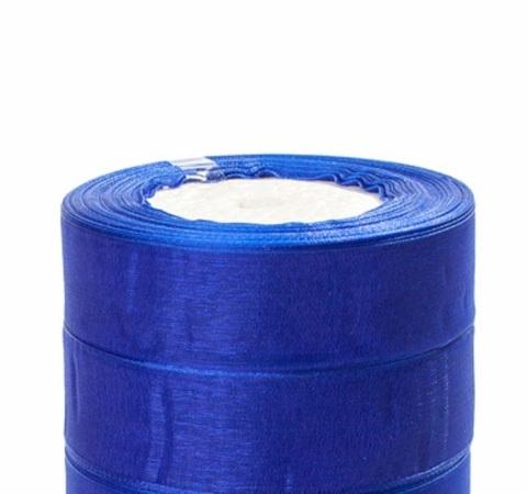 Лента органза (размер:25мм х 25 ярдов) Цвет: синий