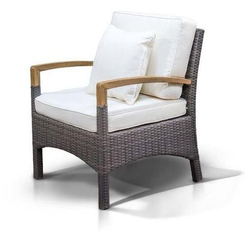 Кресло Verona серо-коричневое (ротанг)