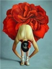 Картина раскраска по номерам 40x50 Балерина в платье-цветке