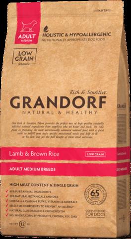 Grandorf Dog Medium сухой корм для собак средних пород (ягнёнок с рисом) 1кг