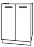 Чили ШНМ 600 шкаф нижний под мойку