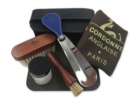 Набор обувной косметики, кожа, черная La Cordonnerie Anglaise (LCA)