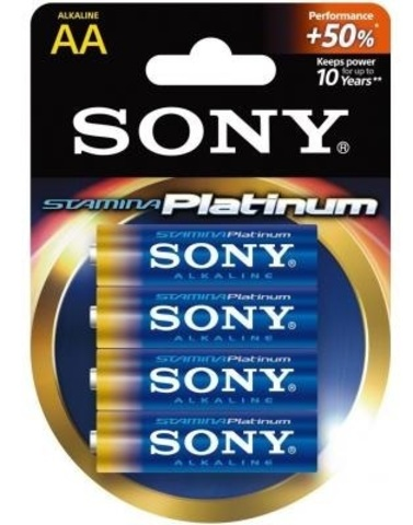 Батарейки Sony Stamina Platinum LR6, AA (4/80) BL