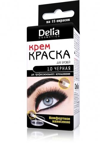 Delia Cosmetics Крем-краска для бровей и ресниц для профессионального использования Черная