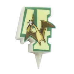 MC Свеча Цифра 4 Динозавр 5см