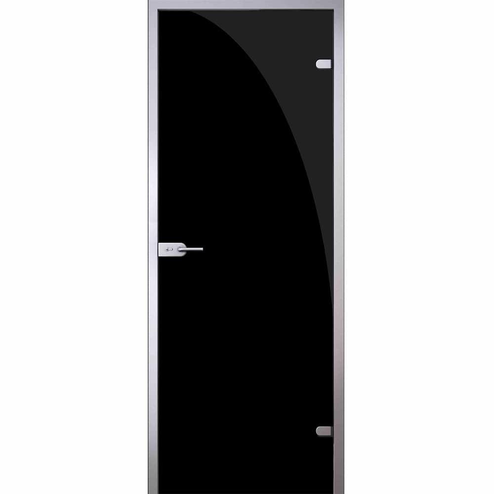 Одностворчатые распашные стеклянные двери Межкомнатная стеклянная дверь АКМА Триплекс Black стекло чёрное triplex-black-dvertsov-min.jpg