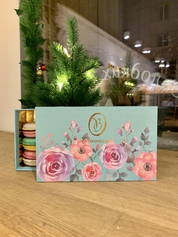 Набір мікс-макарон 9 шт. у подарунковій коробці