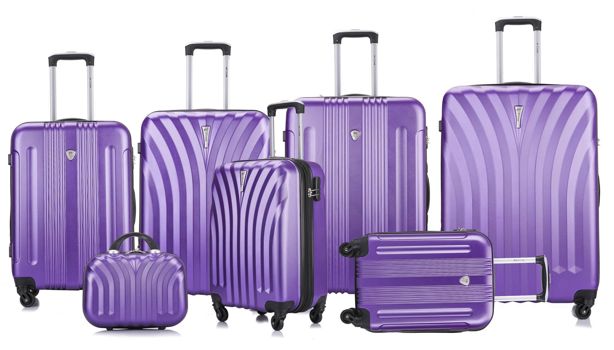 Чемодан с расширением L'case Phuket-24 Фиолетовый (M+)