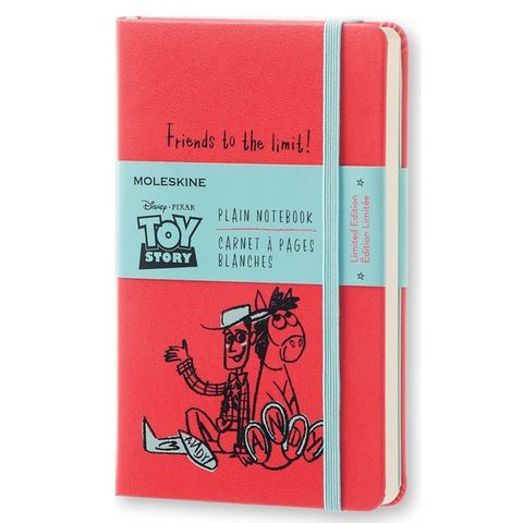 Блокнот Moleskine Limited Edition TOY STORY LETSQP012 Pocket 90x140мм 192стр. нелинованный красный