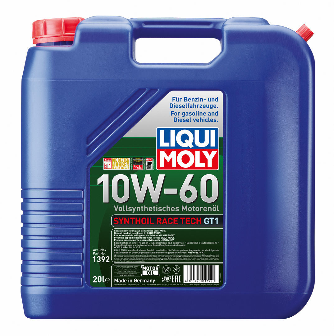 Liqui Moly Synthoil Race Tech GT1 10W60 Синтетическое моторное масло