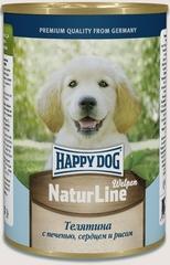Консервы для щенков Happy Dog NaturLine Welpen, ягненок  с печенью, сердцем и рисом