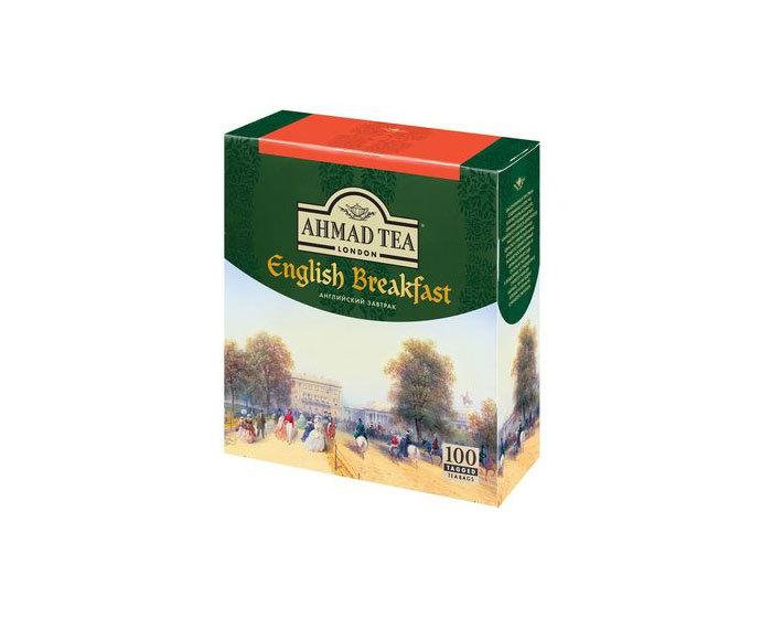 Чай черный в пакетиках Ahmad Tea English Breakfast, 100 пак/уп
