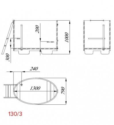 Купель для сауны и бани от Blumenberg 130 x 79, фото 6