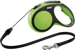 Поводок-рулетка Flexi New Comfort М (до 20 кг) трос 5 м черный/зеленый