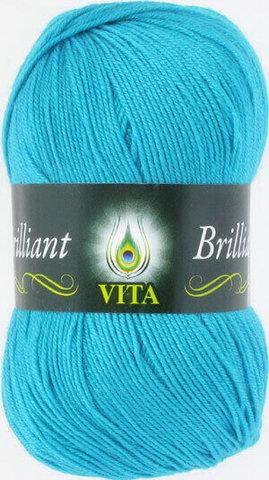 Пряжа Brilliant Vita 4993 голубая бирюза фото