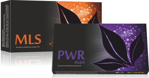 APL. Набор Аккумулированные драже APLGO MLS+PWR man для очищения организма и поддержания мужского здоровья