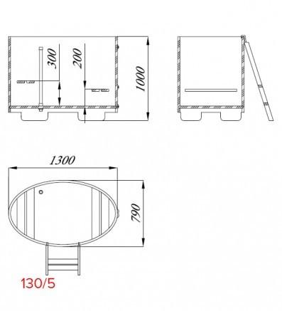 Купель для сауны и бани от Blumenberg 130 x 79, фото 7