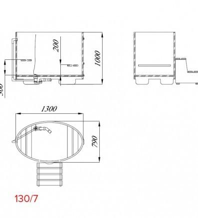 Купель для сауны и бани от Blumenberg 130 x 79, фото 8