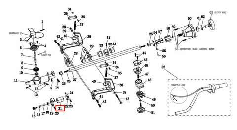 Втулка вертикального вала  для лодочного мотора T2 SEA-PRO