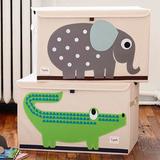 Сундук для хранения игрушек 3 Sprouts Крокодил (зелёный)