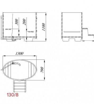 Купель для сауны и бани от Blumenberg 130 x 79, фото 9