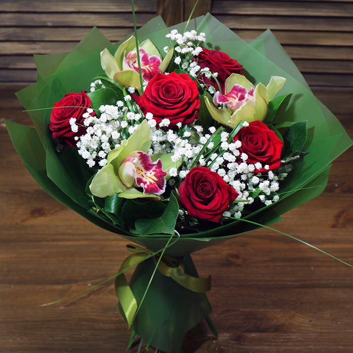 Купить букет с орхидеями в Перми