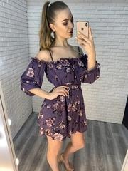 летнее платье на резинке на плечах недорого