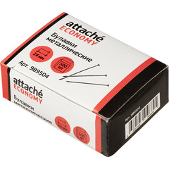Булавки Attache Economy металлические 24 мм (500 штук в упаковке)
