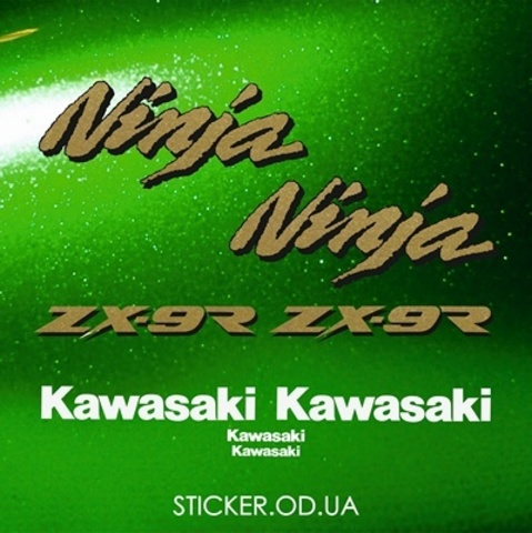 Набор виниловых наклеек на мотоцикл KAWASAKI ZX-9R 1995