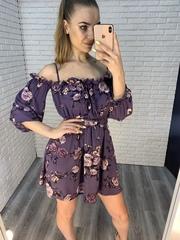 летнее платье на резинке на плечах naadya