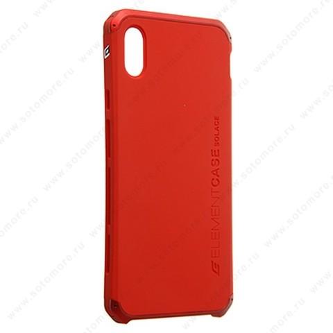 Накладка ELEMENT CASE для iPhone XS Max красный