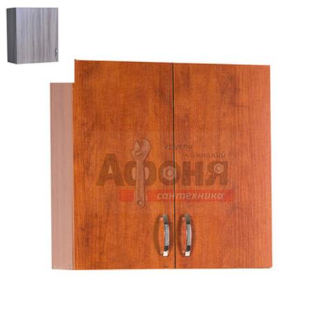 Шкаф для посуды 80 цвет дуб темный (с сушкой) (ЛДСП)