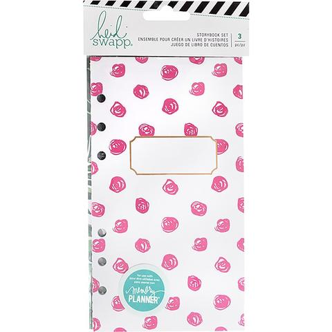 Комплект блоков ( 10,5 х19 см )  для блокнотов - 3 шт-  Heidi Swapp Large Memory Planner Storybook - Fresh Start, Tropical