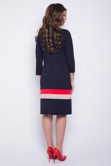 """<p>Хотите быть стильной этой осенью? Тогда это платье """"в точку"""". Прямой силуэт, рукав 3/4. Трикотаж очень приятный к телу. Платье отлично подойдет для любого типа фигуры. (Длины: 44-46=97см; 48-50=98см; 52-54=101см)&nbsp;</p> <p>&nbsp;</p>"""