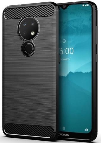 Чехол Nokia 6.2 (7.2) цвет Black (черный), серия Carbon, Caseport