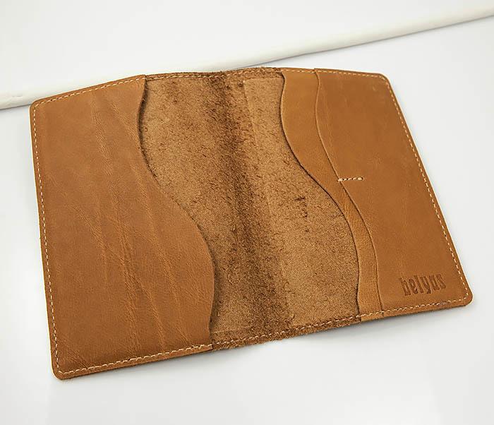 BY14-09-03 Обложка для паспорта с тигром, натуральная кожа фото 05