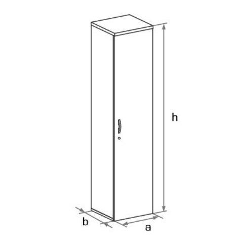 Шкаф закрытый узкий высокий с глухой дверцей БОСТОН