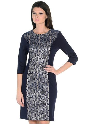 WD2625F платье женское, темно-синее