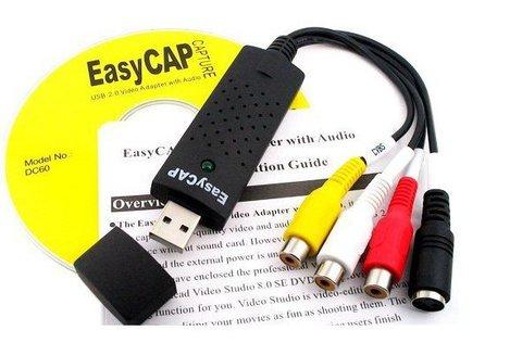 Карта видеозахвата  EasyCAP  Cap usb 2.0 RCA - USB EASY CAP