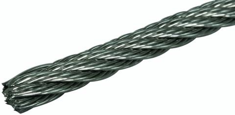Трос из нержавеющей стали AISI 304 - толщина 4,5 мм, (нагрузка до 1230 кг)