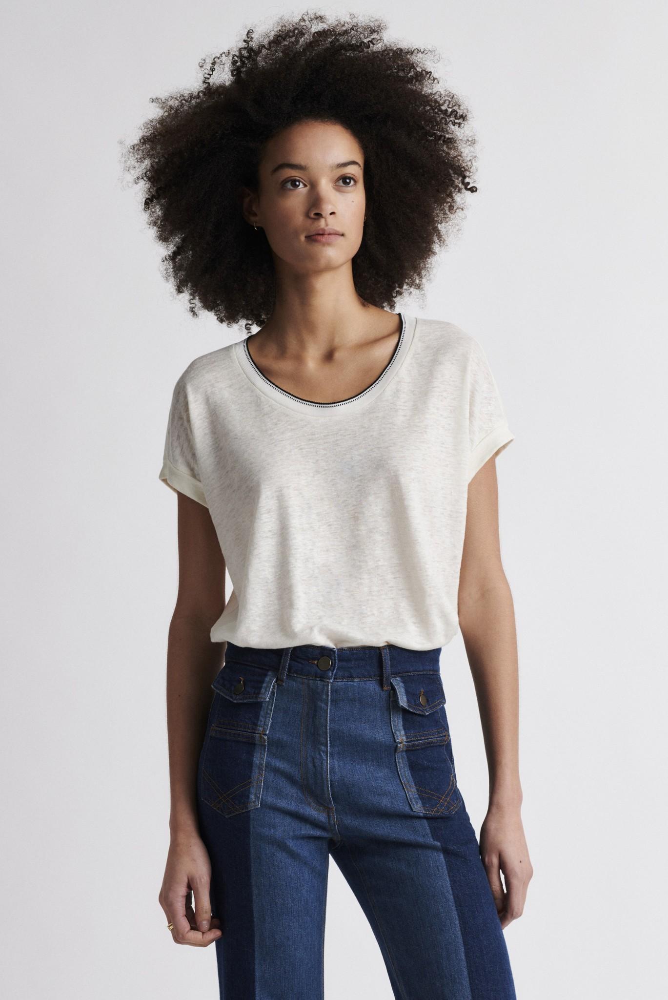 JEMMA - Свободная льняная футболка