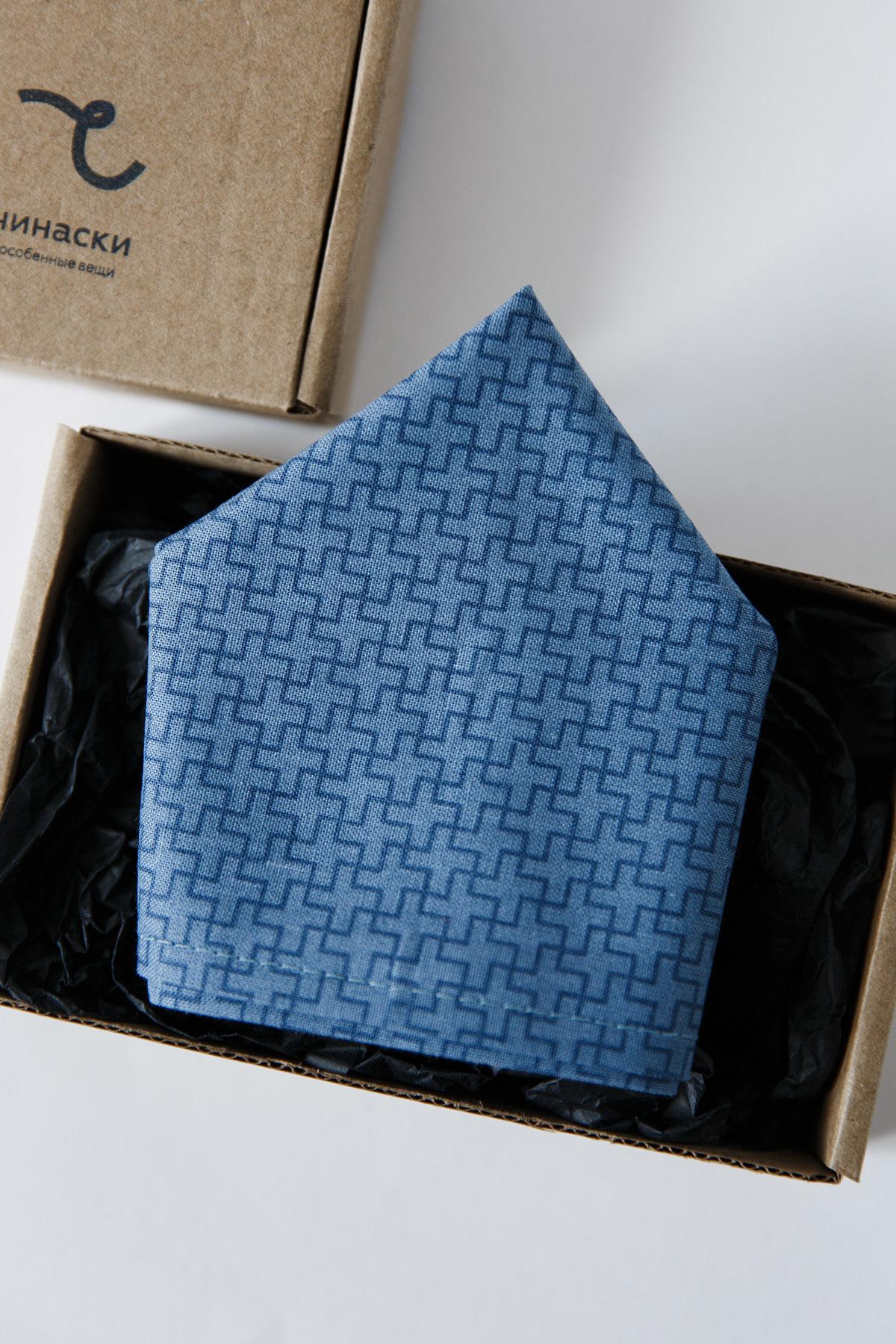 Платок-паше синий узор