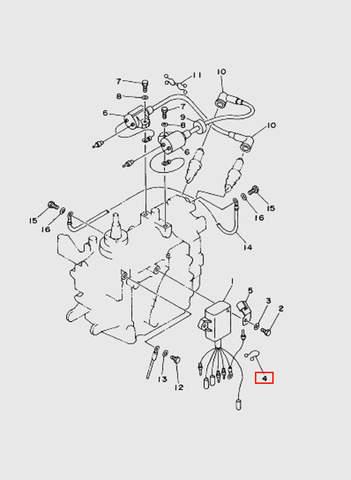 Скоба  для лодочного мотора T15, OTH 9,9 SEA-PRO (9-4)